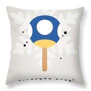 My Nintendo Ice Pop - Mini Mushroom Throw Pillow by Chungkong Art