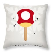 My Nintendo Ice Pop - Mushroom Throw Pillow by Chungkong Art