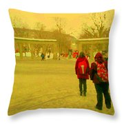 My Old Alma Mater Mcgill University Golden Olden Days Montreal Memories City Scenes Carole Spandau Throw Pillow