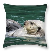 My Otter II Throw Pillow