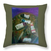 My Paints Throw Pillow