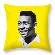 My Pele Soccer Legend Poster Throw Pillow