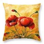 My Poppies 047 Throw Pillow