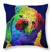 My Psychedelic Bulldog Throw Pillow
