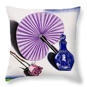My Purple Fan Throw Pillow