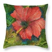 My Quiet Place-hibuscus Flower Throw Pillow