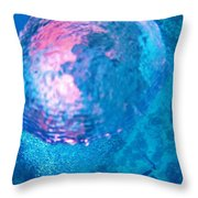 My Reflection In A Divers Bubble Throw Pillow