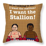 My Rocky Lego Dialogue Poster Throw Pillow