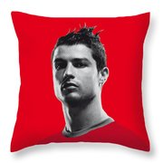 My Ronaldo Soccer Legend Poster Throw Pillow