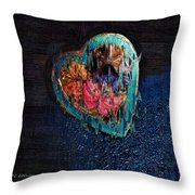 My Rough Imperfect Heart Throw Pillow