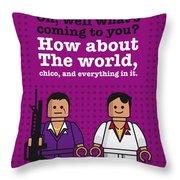 My Scarface Lego Dialogue Poster Throw Pillow