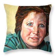 My Sister Louisette Throw Pillow