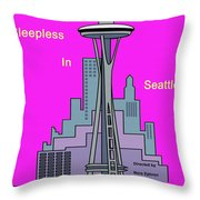 My Sleepless In Seattle Movie Poster Throw Pillow