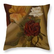 My Small Roses Throw Pillow