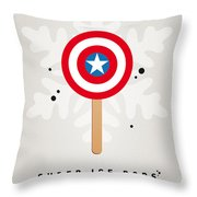 My Superhero Ice Pop - Captain America Throw Pillow