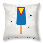 My Superhero Ice Pop - Superman Throw Pillow by Chungkong Art