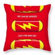 My Superhero Pills - The Flash Throw Pillow