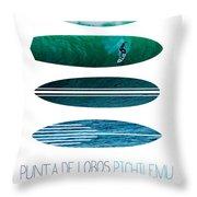 My Surfspots Poster-3-punta De Lobos-chile Throw Pillow by Chungkong Art