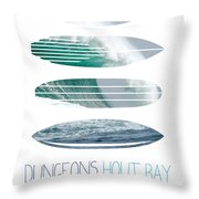 My Surfspots Poster-4-dungeons-cape-town-south-africa Throw Pillow