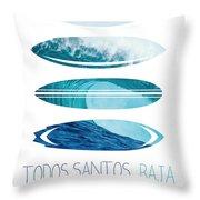 My Surfspots Poster-6-todos-santos-baja Throw Pillow