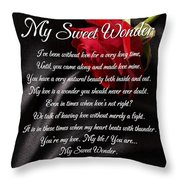 My Sweet Wonder Poetry Art Throw Pillow