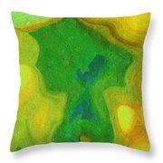 My Teddy Bear - Digital Painting - Abstract Throw Pillow