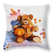 My Teddy Bear  Throw Pillow
