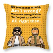My The Big Lebowski Lego Dialogue Poster Throw Pillow