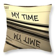 My Time Boat Name Throw Pillow