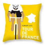 My Tour De France Minimal Poster 2014 Throw Pillow