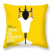 My Tour De France Minimal Poster Throw Pillow