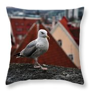 My Town My View Throw Pillow