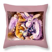 My Toys - Palette Knife Oil Painting On Canvas By Leonid Afremov Throw Pillow