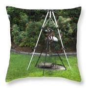 My Tripod Can Beat Up Your Tripod Throw Pillow
