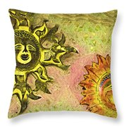 My Two Suns Throw Pillow
