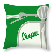 My Vespa - From Italy With Love - Green Throw Pillow