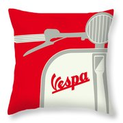 My Vespa - From Italy With Love - Red Throw Pillow by Chungkong Art