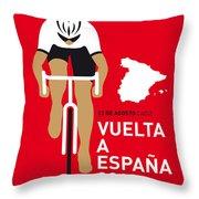 My Vuelta A Espana Minimal Poster 2014 Throw Pillow