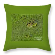 My Whole World Is Green Throw Pillow