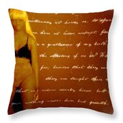 My Words Throw Pillow