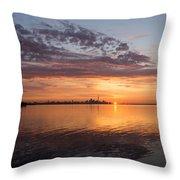 My World This Morning - Toronto Skyline At Sunrise Throw Pillow