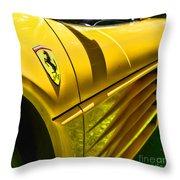 My Yellow Ferrari Throw Pillow