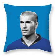My Zidane Soccer Legend Poster Throw Pillow