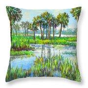 Myakka Lake With Palms Throw Pillow