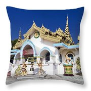Myanmar Buddhist Temple Throw Pillow