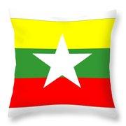 Myanmar Flag Throw Pillow