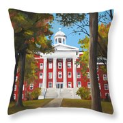 Myers Hall Throw Pillow
