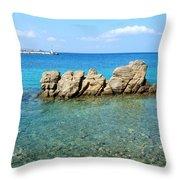 Mykonos Blue Aegean Throw Pillow