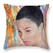 Myra Molloy Winner Of Thailand Got Talent II Throw Pillow by Jim Fitzpatrick