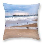Myrtle Beach - Rainy Day Throw Pillow